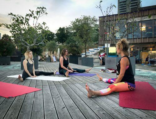 Yoga auf der Donauinsel